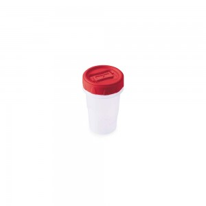Imagem do produto - Pote de Plástico Redondo 90 ml Rosca Vermelho