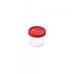 Imagem do produto - Pote de Plástico Redondo 720 ml Rosca Vermelho