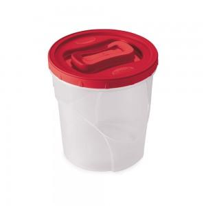 Imagem do produto - Pote de Plástico Redondo 3,2 L Rosca Vermelho