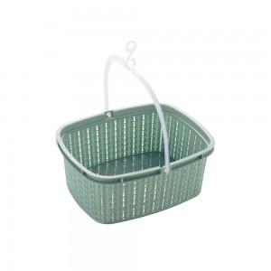 Imagem do produto - Cesto de Plástico para Prendedor com Alça Trama Verde