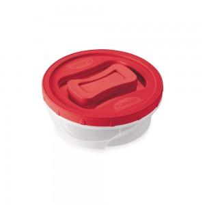 Imagem do produto - Pote de Plástico Redondo 2,1 L Rosca Vermelho