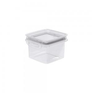 Imagem do produto - Pote de Plástico Quadrado 380 ml Hermético Trava Mais Cinza