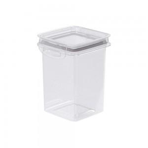 Imagem do produto - Pote de Plástico Retangular 830 ml Hermético Trava Mais Cinza