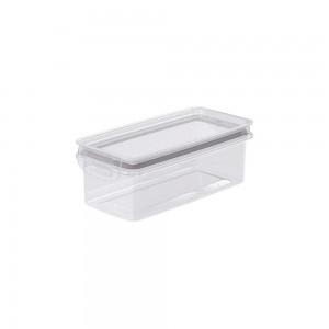Imagem do produto - Pote de Plástico Retangular 875 ml Hermético Trava Mais Cinza