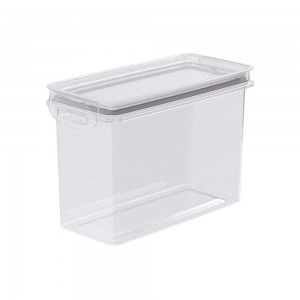 Imagem do produto - Pote de Plástico Retangular 1,9 L Hermético Trava Mais Cinza