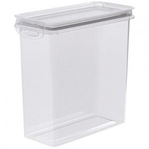 Imagem do produto - Pote de Plástico Retangular 2,8 L Hermético Trava Mais Cinza
