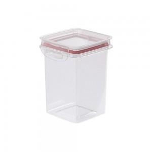 Imagem do produto - Pote de Plástico Quadrado 830 ml Hermético Trava Mais