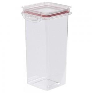 Imagem do produto - Pote de Plástico Quadrado 1,2 L Hermético Trava Mais Vermelho