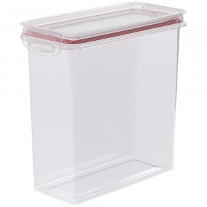 Imagem do produto - Pote de Plástico Retangular 2,8 L Hermético Trava Mais Vermelho