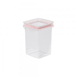 Imagem do produto - Pote de Plástico Quadrado 830 ml Hermético Trava Mais Rosa