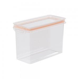 Imagem do produto - Pote de Plástico Retangular 1,9 L Hermético Trava Mais Rosa
