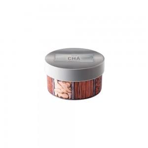 Imagem do produto - Caixa de Plástico Redonda 1,2 L com Tampa Encaixável -  Chá