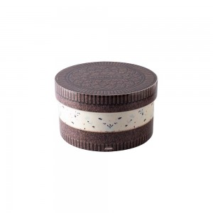 Imagem do produto - Caixa de Plástico Redonda 2,1 L com Tampa Encaixável Cookies