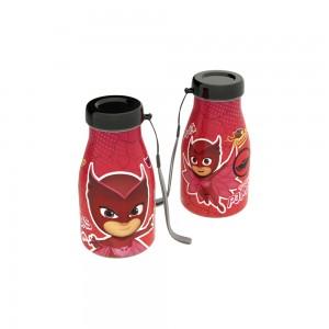 Imagem do produto - Garrafa de Plástico 390 ml com Tampa Rosca Milk  Pj Masks Corujita