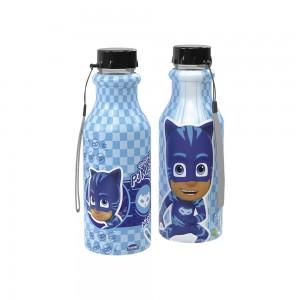 Imagem do produto - Garrafa de Plástico 500 ml com Tampa Rosca Retrô Pj Masks Menino Gato