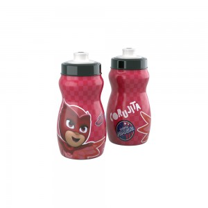 Imagem do produto - Garrafa Squeeze de Plástico 300 ml com Tampa Rosca Pj Masks Corujita