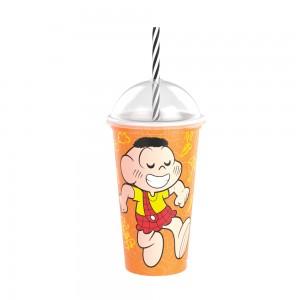 Imagem do produto - Copo Shake de Plástico 500 ml com Tampa e Canudo Cascão Mônica Laços