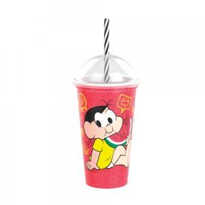 Imagem do produto - Copo Shake de Plástico 500 ml com Tampa e Canudo Magali Mônica Laços