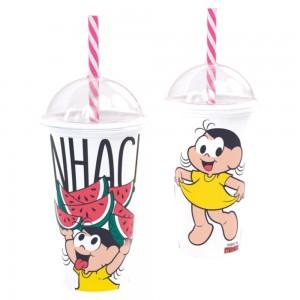 Imagem do produto - Copo Shake de Plástico 500 ml com Tampa e Canudo Magali