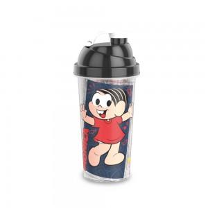 Imagem do produto - Shakeira de Plástico 580 ml com Tampa Rosca e Misturador Magali e Mônica Laços