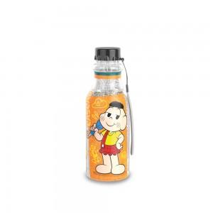Imagem do produto - Garrafa de Plástico 500 ml com Tampa Rosca Retrô Cebolinha e Cascão Mônica Laços