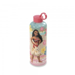 Imagem do produto - Garrafa de Plástico 480 ml com Tampa Rosca e Pegador Fixo Cilíndrica Moana