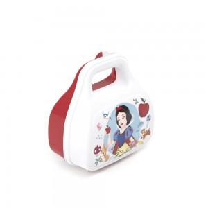 Imagem do produto - Pote de Plástico com Tampa Fixa em Formato de Bolsinha com Alça Princesas Branca de Neve