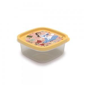 Imagem do produto - Pote de Plástico Quadrado 580 ml Princesas Bela Clic