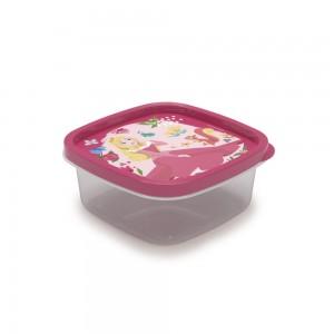 Imagem do produto - Pote de Plástico Quadrado 580 ml Princesas Bela Adormecida Clic