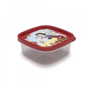 Imagem do produto - Pote de Plástico Quadrado 580 ml Princesas Branca de Neve Clic