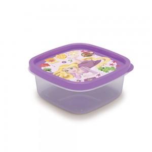 Imagem do produto - Pote de Plástico Quadrado 580 ml Princesas Rapunzel Clic