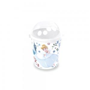Imagem do produto - Pote de Plástico 600 ml com Tampa Fixa Princesas Cinderela