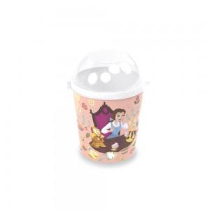 Imagem do produto - Pote de Plástico 600 ml com Tampa Fixa Princesas Bela