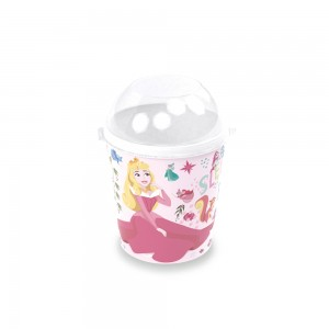 Imagem do produto - Pote de Plástico 600 ml com Tampa Fixa Princesas Bela Adormecida