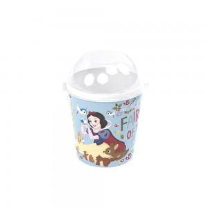 Imagem do produto - Pote de Plástico 600 ml com Tampa Fixa Princesas Branca de Neve