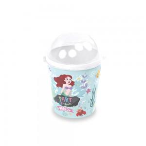 Imagem do produto - Pote de Plástico 600 ml com Tampa Fixa Princesas Pequena Sereia