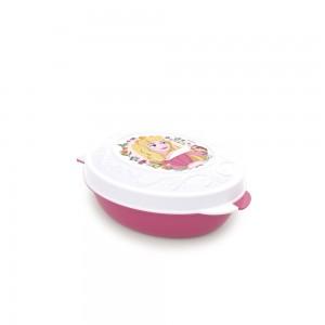 Imagem do produto - Conjunto de Potes de Plástico com Tampa Fixa em Formato Retrô Princesas Bela Adormecida 8 Unidades