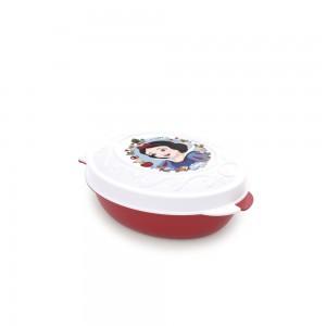 Imagem do produto - Conjunto de Potes de Plástico com Tampa Fixa em Formato Retrô Princesas Branca de Neve 8 Unidades