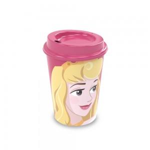 Imagem do produto - Copo de Plástico 320 ml com Tampa Café Princesas Bela Adormecida