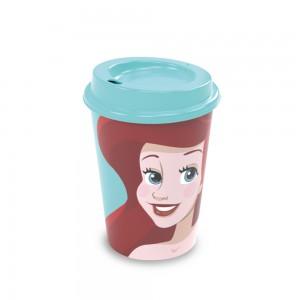 Imagem do produto - Copo de Plástico 320 ml com Tampa Café Princesas Pequena Sereia