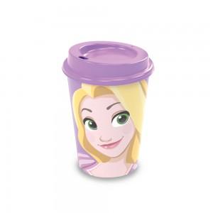 Imagem do produto - Copo de Plástico 320 ml com Tampa Café Princesas Rapunzel