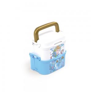 Imagem do produto - Mini Marmita de Plástico com Tampa, 2 Compartimentos, 2 Divisórias Removíveis, Alça, Travas Laterais e Garfo Princesas Cinderela
