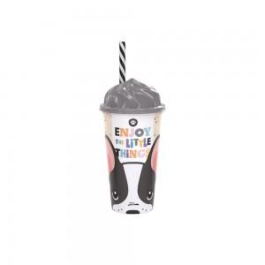 Imagem do produto - Copo de Plástico 500 ml com Tampa Sundae e Canudo Cute
