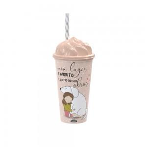 Imagem do produto - Copo de Plástico 500 ml com Tampa Sundae e Canudo Cute Pets