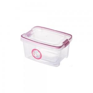 Imagem do produto - Caixa de Plástico Retangular Organizadora 2,6 L com Tampa, Travas Laterais e Alça Gran Box Cegonha