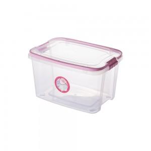Imagem do produto - Caixa de Plástico Retangular Organizadora 6,2 L com Tampa, Travas Laterais e Alça Gran Box Cegonha