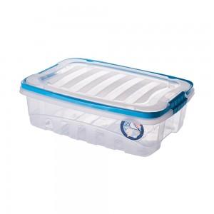 Imagem do produto - Caixa de Plástico Retangular Organizadora 9,3 L com Tampa, Travas Laterais e Alça Gran Box Cegonha