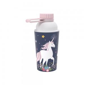 Imagem do produto - Garrafa de Plástico 430 ml com Tampa Rosca Fixa Vip Unicórnio