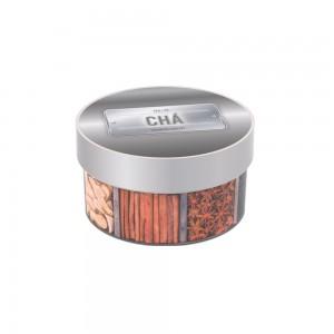 Imagem do produto - Caixa de Plástico Redonda 900 ml com Tampa Encaixável Chá