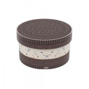 Imagem do produto - Caixa de  Plástico Redonda 1,5 L com Tampa Encaixável Cookies